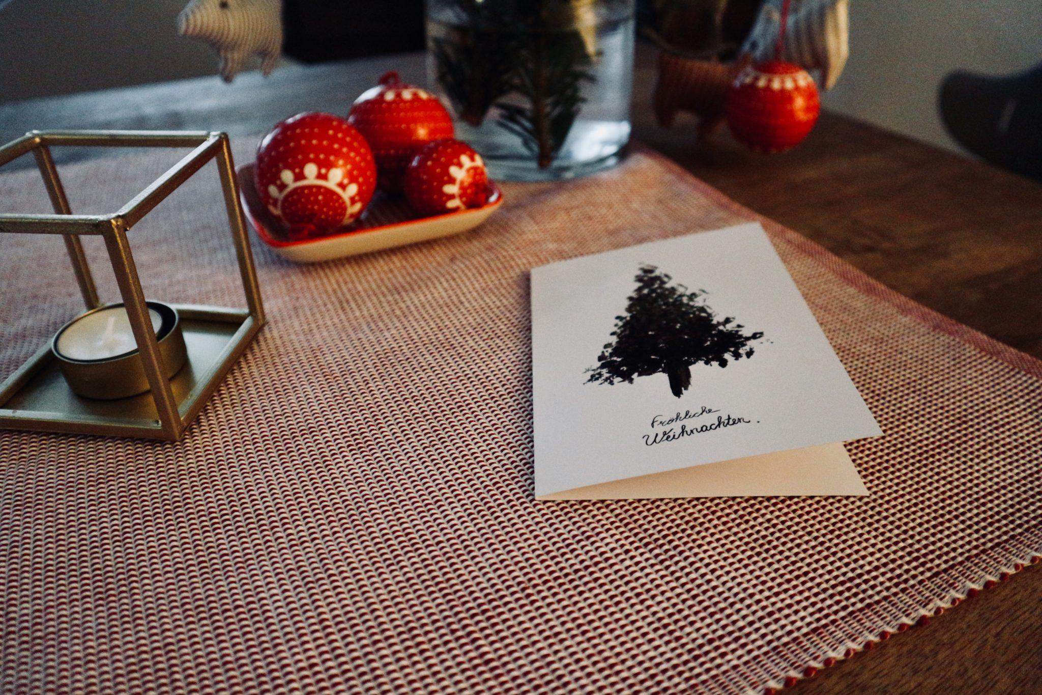 ein dankesch n zu weihnachten weihnachtskarten f r die. Black Bedroom Furniture Sets. Home Design Ideas